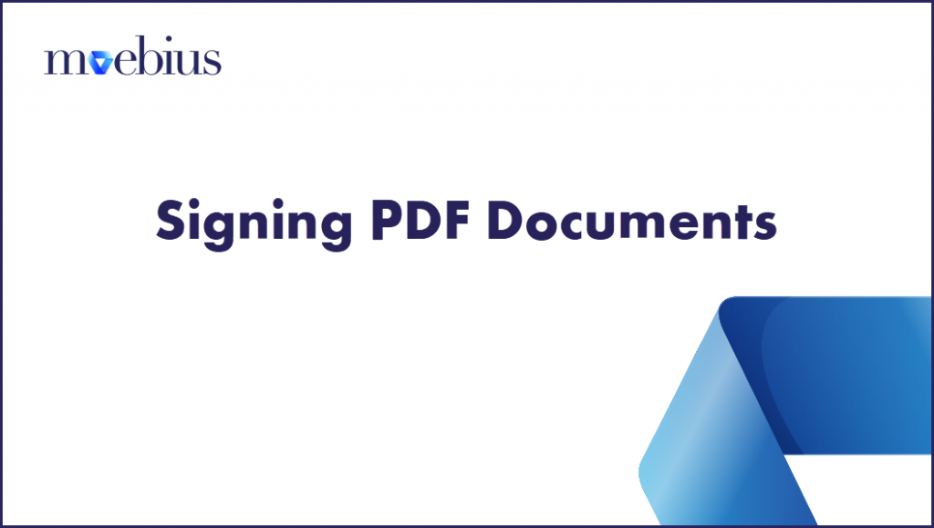 Signing of PDF Documents